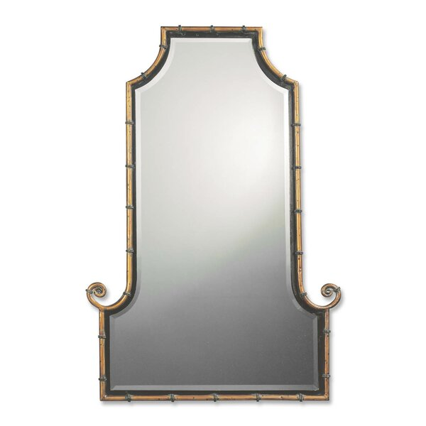 Arch Gold Iron Framed Mirror by Bay Isle Home