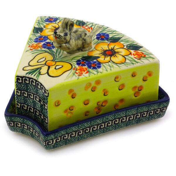 Flower Mouse Butter Dish by Polmedia