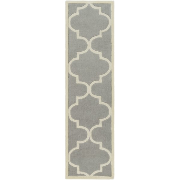 Daubert Hand-Tufted Gray/Ivory Area Rug by Breakwater Bay