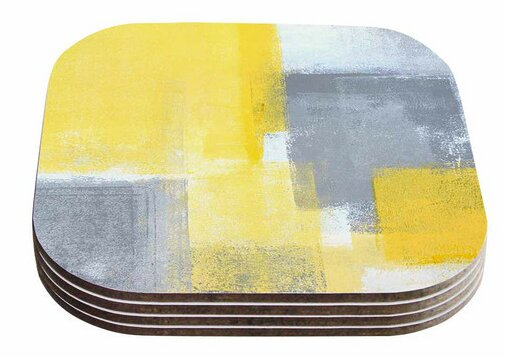 Steady by CarolLynn Tice Coaster (Set of 4) by East Urban Home