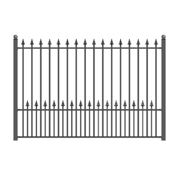5 ft. H x 5.5 ft. W Munich DIY Unassembled Steel Fence Panel by ALEKO