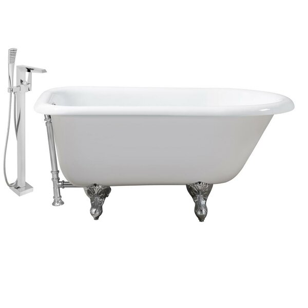 Cast Iron 66 x 30 Clawfoot Soaking Bathtub by Streamline Bath