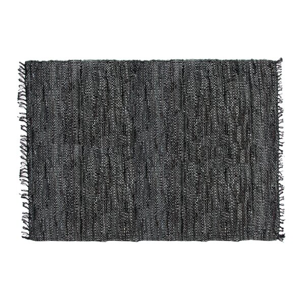 Recio Hand-Woven Black Area Rug by Loon Peak