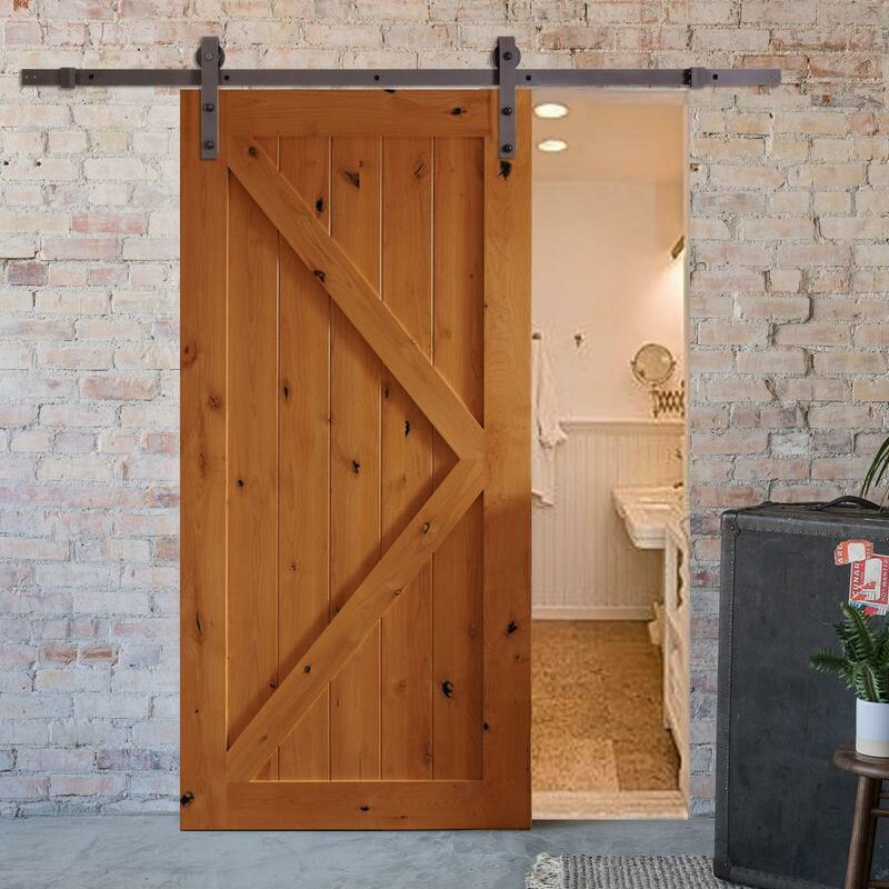 Bent Strap Sliding Barn Door Hardware Set