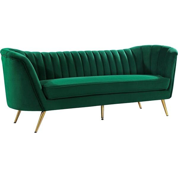 Dark Green Velvet Sofa | Wayfair