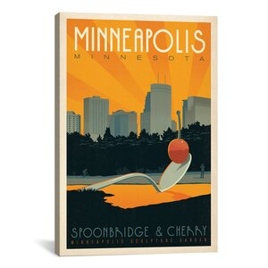 Minneapolis, Minnesota by Anderson Design Group Vintage Advertisement on Canvas by iCanvas