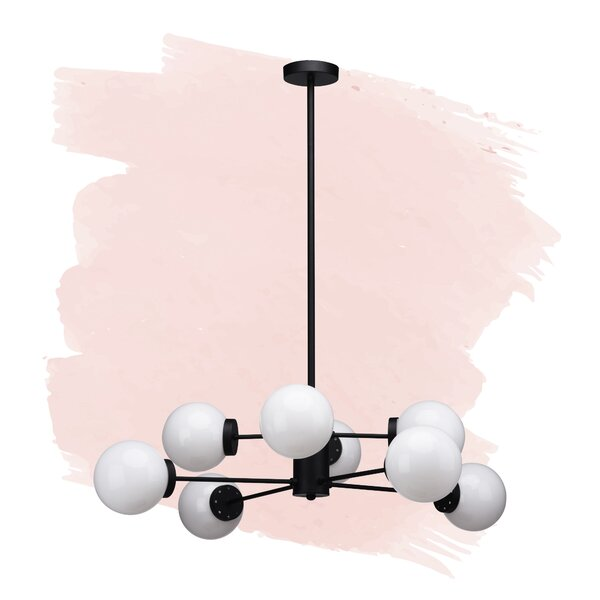 Brice 8 - Light Unique / Statement Globe Chandelier by Foundstone Foundstone
