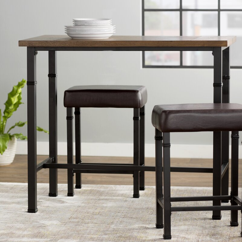 Laurel Foundry Modern Farmhouse Sevigny 3 Piece Pub Table Set ...