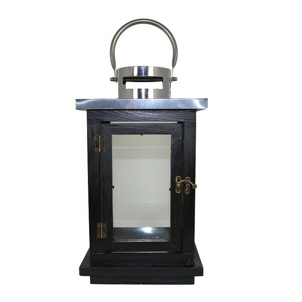 Wood with Metal Lantern by ESSENTIAL DÉCOR & BEYOND, INC