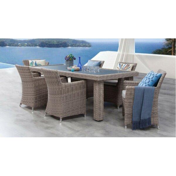 Soto 7 Piece Dining Set with Cushions Bayou Breeze W001992633