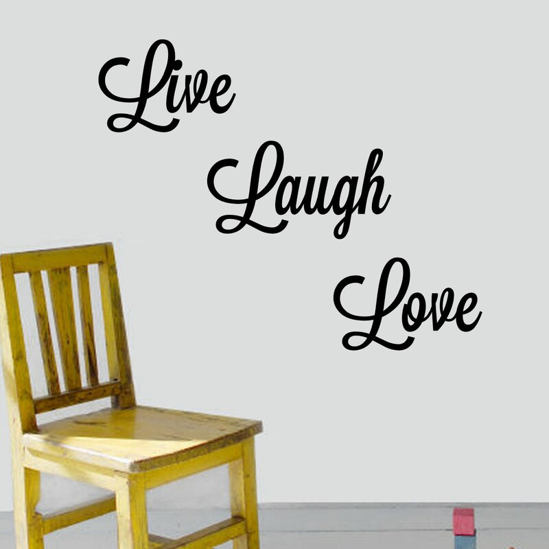 Live, Laugh, Love Wall Decal