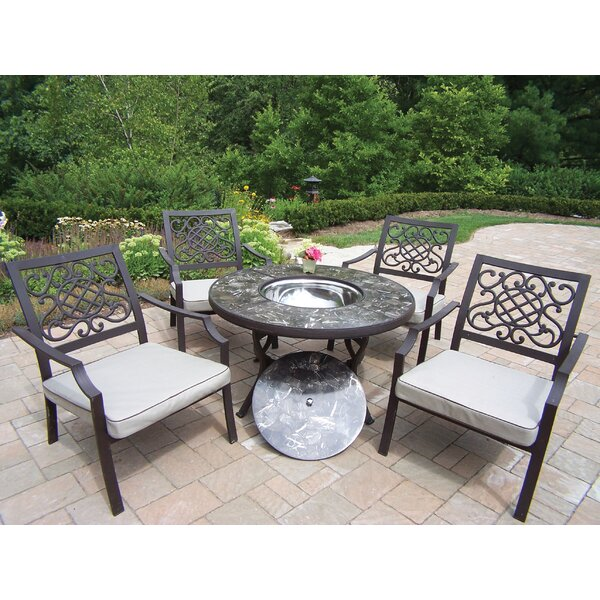 Stone Art 5 Piece Conversation Set with Cushions by Oakland Living