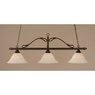 3 Light Wrought Iron Rope Kitchen Island Pendant. By Toltec Lighting