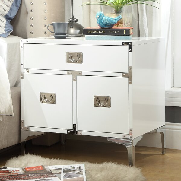 Marcelo 1 Drawer Nightstand by 17 Stories