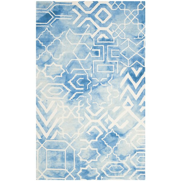 Dip Dye Hand-Tufted Blue/Ivory Area Rug by Bungalow Rose