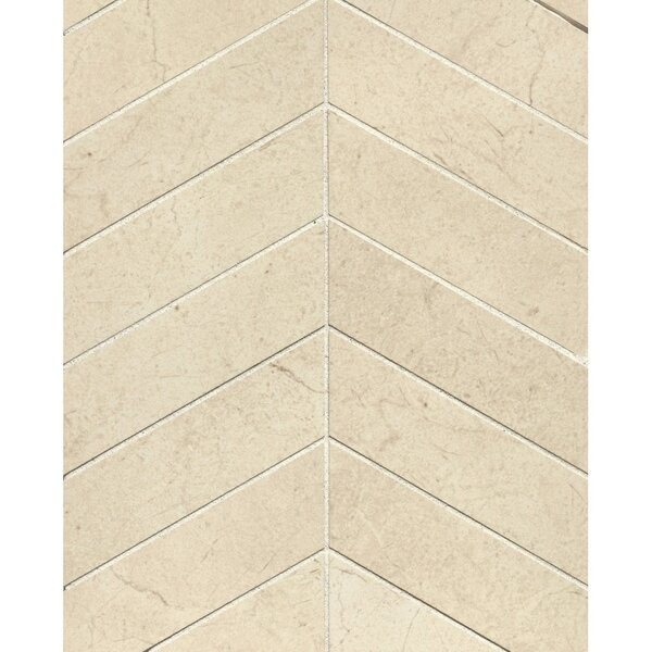 El Dorado Chevron 2 x 6 Porcelain Mosaic Tile in Oyster by Grayson Martin