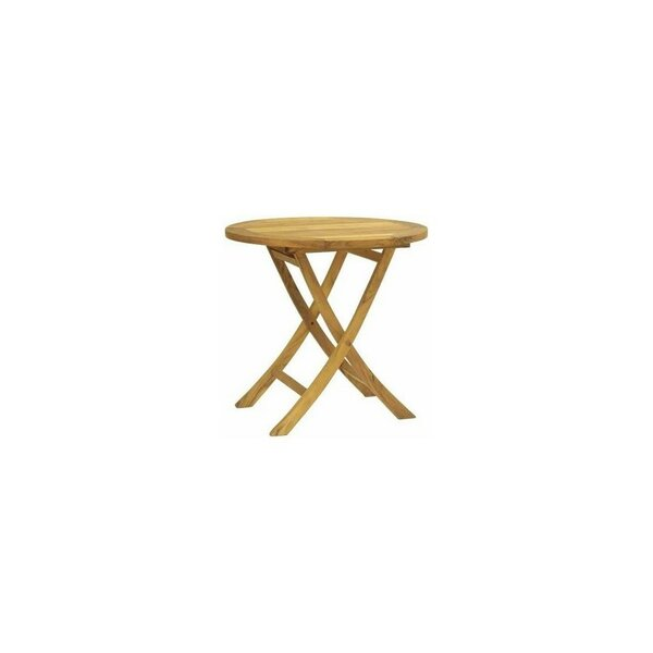Macintyre Grade A Round Teak Side Table by Highland Dunes