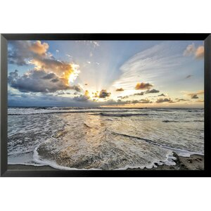 'Ocean Sunrise' by Brandi Fitzgerald Framed Photographic Print by Buy Art For Less