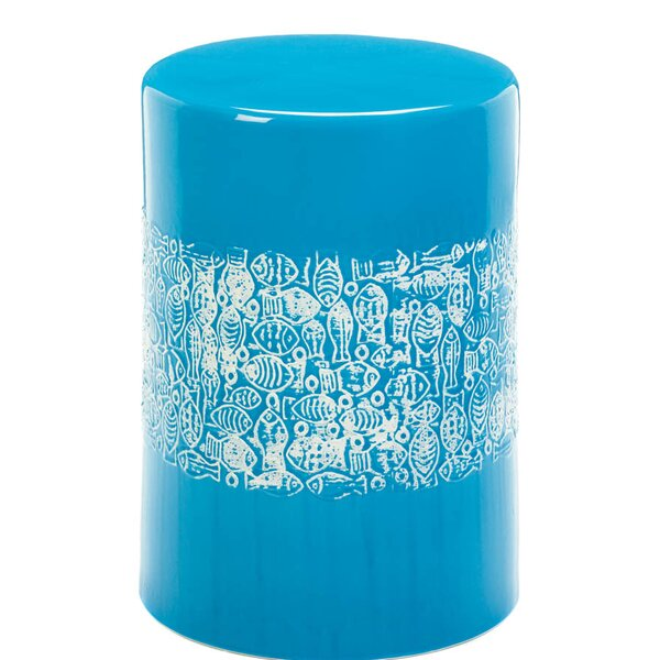 Jaydon School of Fish Garden Stool by Highland Dunes Highland Dunes