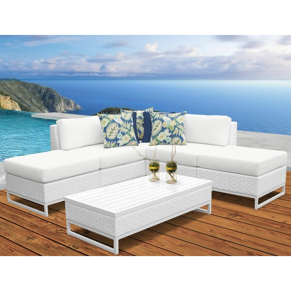 Sugarmill 6 Piece Rattan Sectional Seating Group with Cushions by Orren Ellis