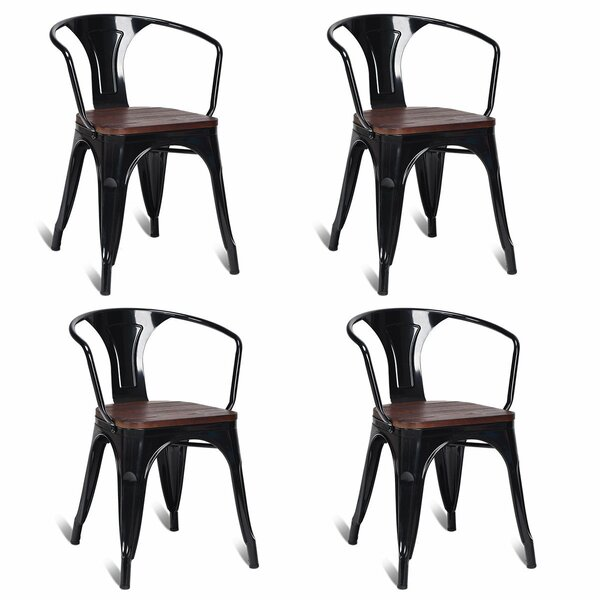 Mickie Stacking Patio Dining Chair (Set of 4) by Williston Forge