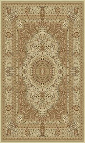 Tabriz Cream Indoor/Outdoor Area Rug by Rug Factory Plus