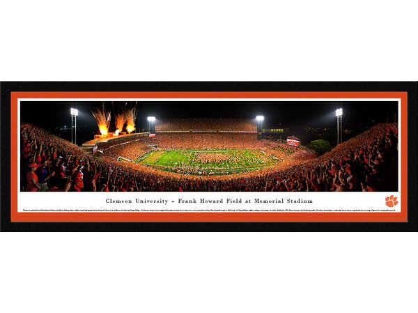 NCAA Clemson University - Celebration by James Blakeway Framed Photographic Print by Blakeway Worldwide Panoramas, Inc
