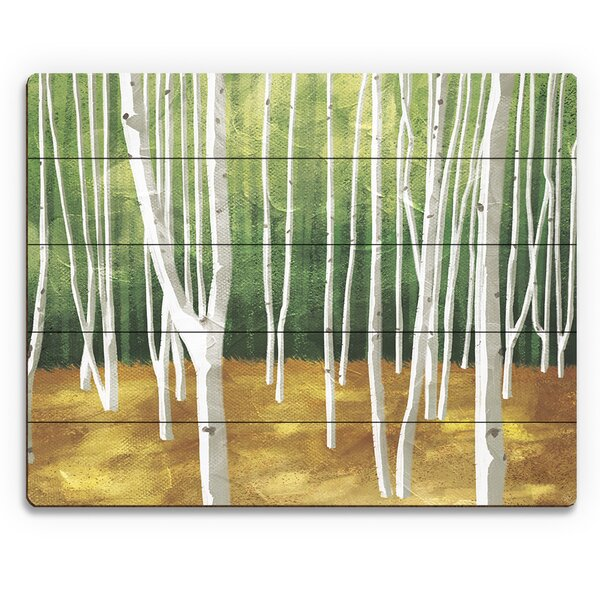 Forest Painting Print on Plaque by Click Wall Art