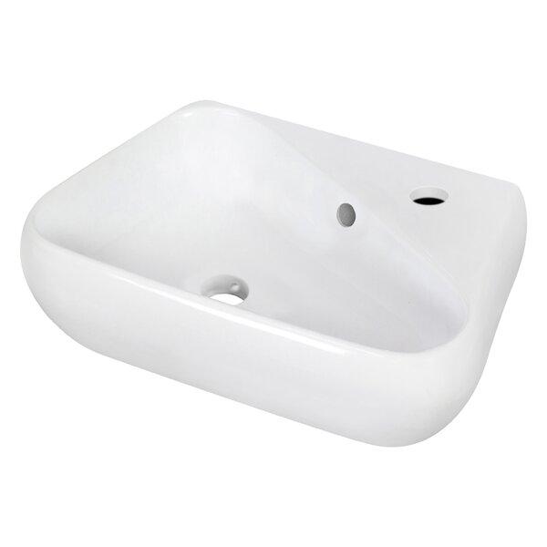 Ceramic Specialty Vessel Bathroom Sink with Overflow