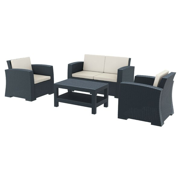 Vedder 4 Piece Sofa Seating Group with Cushions by Brayden Studio