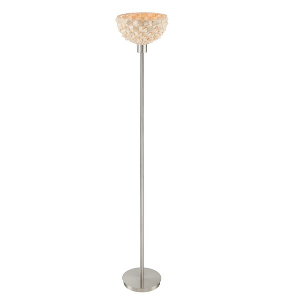 Plumeria 70 Torchiere Floor Lamp by Bay Isle Home