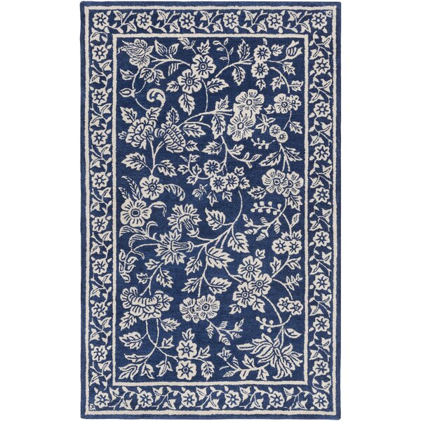 Andy Hand-Tufted Blue/Black Area Rug by Alcott Hill