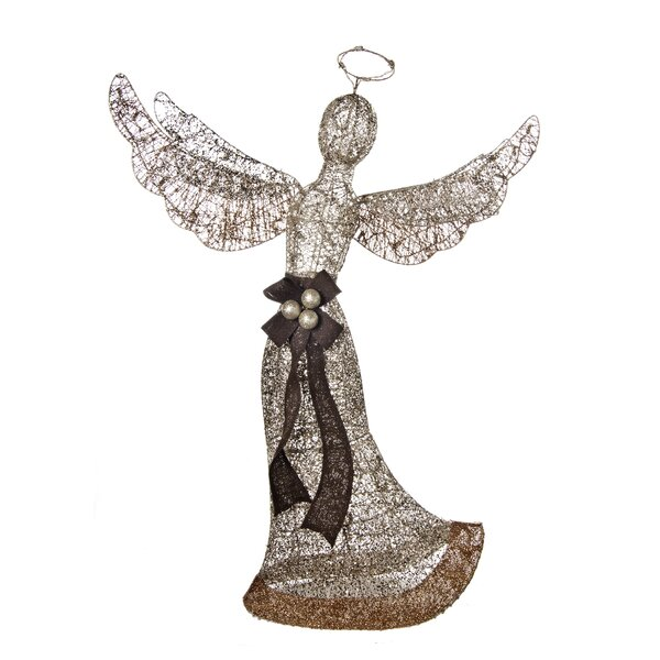 Glittering Angel Sculpture Lighted Display by The