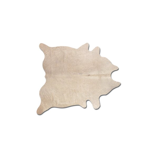 Plainsboro Hand-Woven Cowhide Natural Area Rug  by Latitude Run