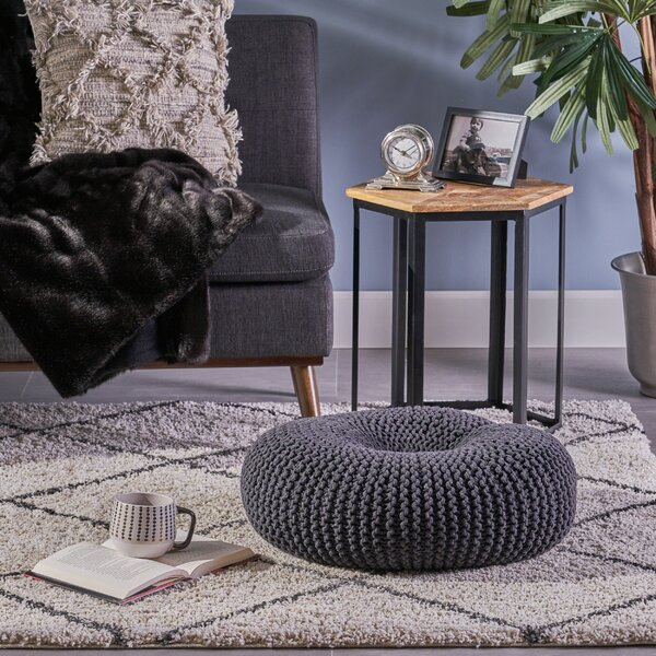 Maas Knitted Donut Pouf by Bungalow Rose