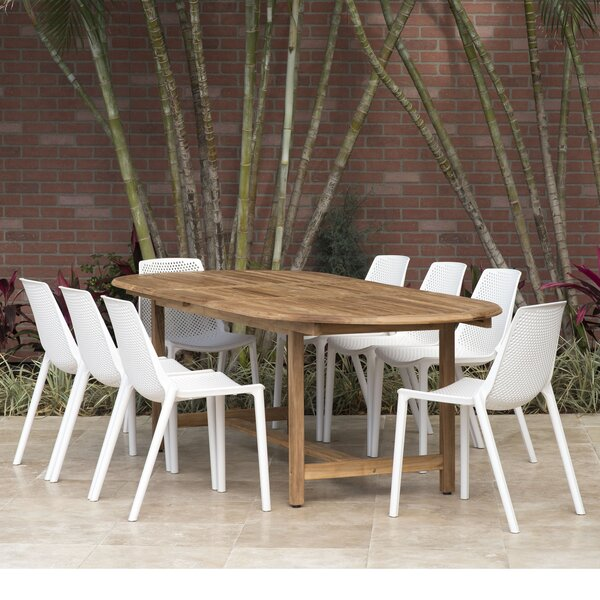 Sannois 9 Piece Dining Set by Brayden Studio