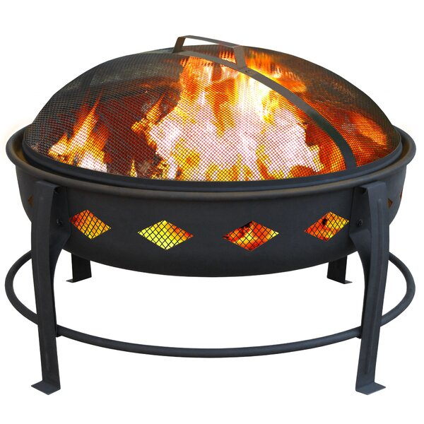 Bromley Diamond Steel Wood Burning Fire Pit by Landmann