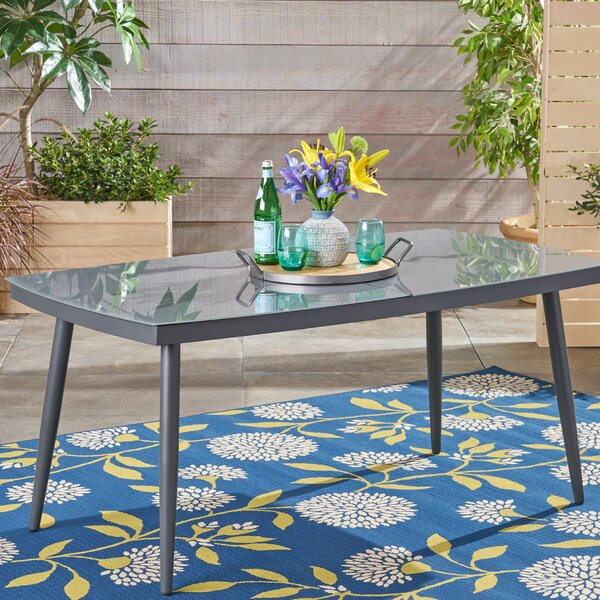 Shamar Glass Dining Table by George Oliver