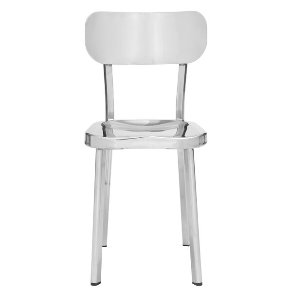 Rizzuto Stainless Steel Side Chair (Set of 2) by Brayden Studio