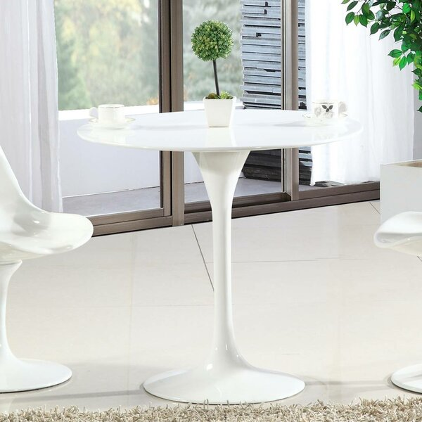 Sariah Round Fiberglass Dining Table by Ivy Bronx