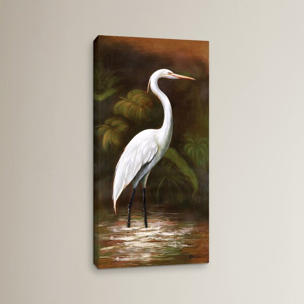 Snowy Egret I Painting Print on Canvas by Bay Isle Home