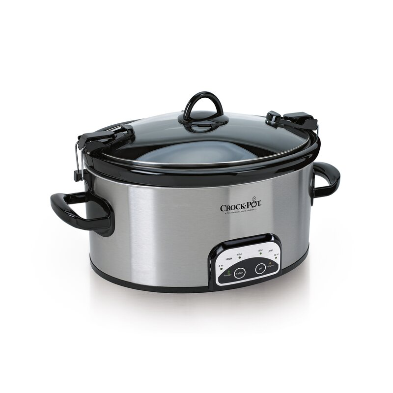 6 Qt. Programmable Cook and Carry Oval Slow Cooker