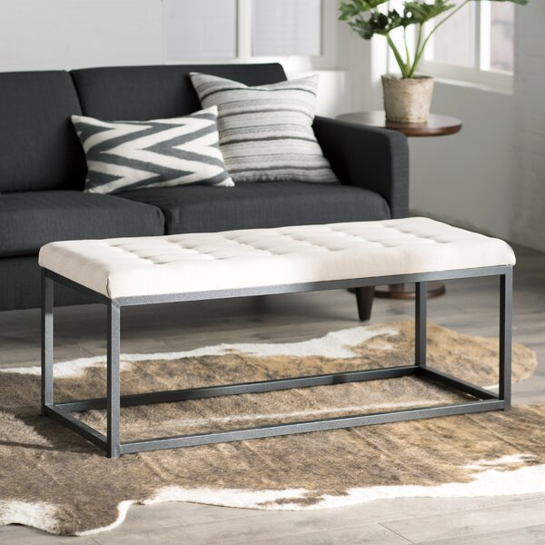 Landry Upholstered Bench by Mercury Row