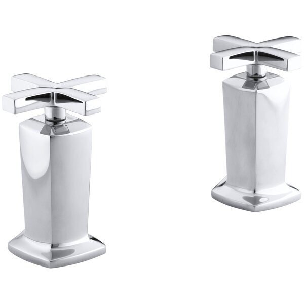 Margaux Valve Trim with Cross Handles for Deck-Mount High-Flow Bath Valve, Requires Valve by Kohler