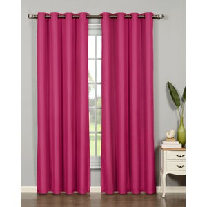 Emma Extra Wide Solid Room Darkening Thermal Grommet Single Curtain Panel