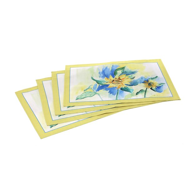 Sunflowers Placemat (Set of 4) by Betsy Drake Interiors