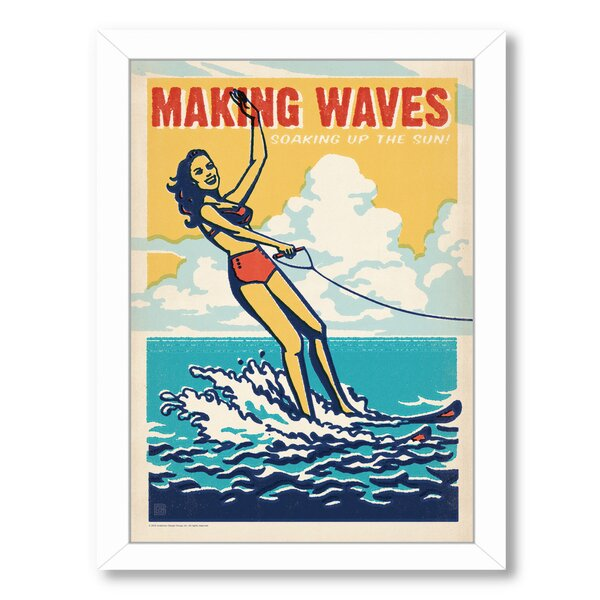 Making Waves Framed Vintage Advertisement by East Urban Home