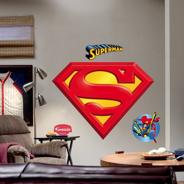 Super Heroes Superman Logo Wall Decal by Fathead