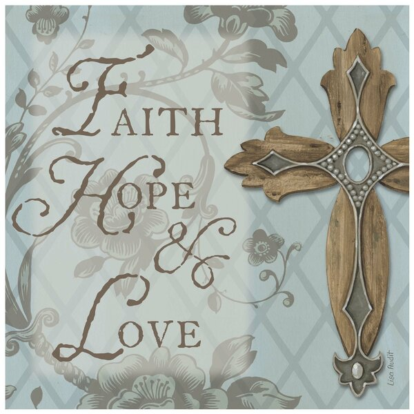 Faith, Hope and Love Cross Occasions Trivet by Thirstystone