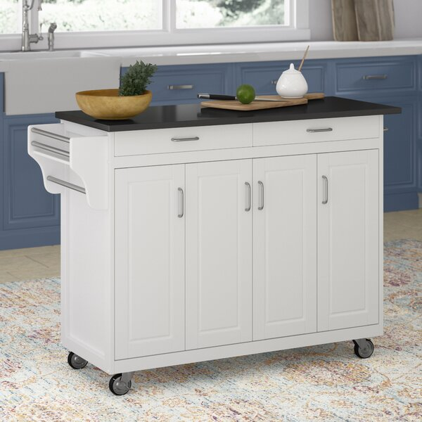 Stroman Kitchen Island with Granite Top by August Grove